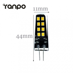 RANPO LED Corn Bulb G4 6W 2835 SMD Silicone Crystal Cool Neutral Warm White AC/DC10-30V