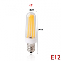 RANPO E12 4W Dimmable LED Silicone Crystal Corn Bulb SpotLight Lamp Cool Warm White 110V