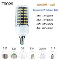 RANPO 25W E27 LED Corn Bulb Light 2835 SMD Halogen Lamp Replacement 110V 220V