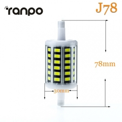 RANPO Dimmable 10W J78 LED Flood Light Bulb R7s Replaces Halogen Cool Warm AC 85-265V