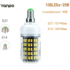 RANPO 25W E27 LED Corn Bulb 5733 SMD Lighting Light Lamp 110V 220V