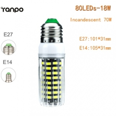 RANPO 18W E14 LED Corn Bulb 5733 SMD Lighting Light Lamp 220V