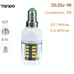 RANPO 9W E27 LED Corn Bulb 5733 SMD Lighting Light Lamp 110V 220V