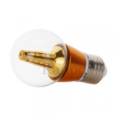 5W E27 Golden Shell LED Bulb Globe Light Halogen Lamp Replacement  220V