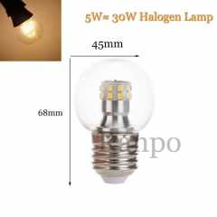 5W E27 LED Bulb Globe Light Halogen Lamp Replacement  220V