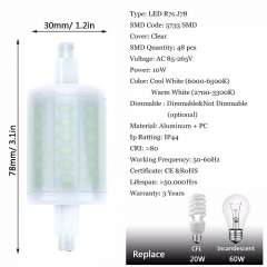 RANPO Dimmable 10W J78 R7S LED Light Bulb Lampe Halogen Replacement