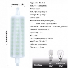 RANPO 20W J118 R7S LED Light Bulb Lampe Halogen Replacement