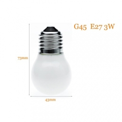 RANPO Mini LED Light Bulb E27 3W G45 AC 220V Energy Saving Lamp Chandeliers Lighting