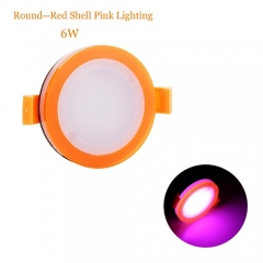 RANPO 6W Pink Color Round Red Shell LED Downlight CREE Recessed Spotlight 110V Ceiling Down Lights Bulbs Lamp 85-265V
