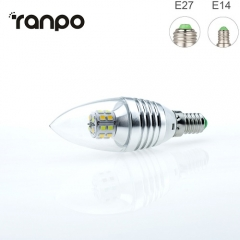 RANPO 7W E27 3 Colors LED Corn Bulb Candle Light 2835 SMD White Lamp