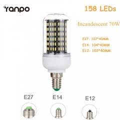 E27 45W Dimmable Smart IC LED Corn Light Bulb Lamp 4014 SMD AC 220V