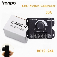 Ranpo LED Switch Dimmer DC 12V 24V 30A 360W Adjustable Bright Lamp Strip Driver Power