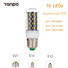 RANPO E12 20W Dimmable Smart IC LED Corn Light Bulb Lamp 4014 SMD AC 220V