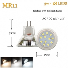 RANPO 3W LED Bulb Spotlight MR11 White 2835 SMD Halogen Lamp Replacement 12-24V