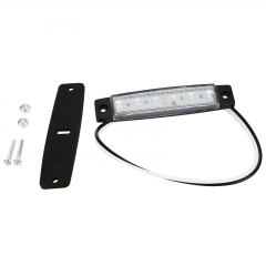 6 LED White Color Trailer Truck Clearance Side Marker Submersible Light Width Lamp 12V 24V