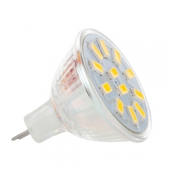 RANPO 4W MR11 LED Bulbs Spotlight White 5733 SMD Halogen Lamp Replacement 12-24V