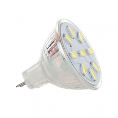 RANPO 2W MR11 LED Bulbs Spotlight White 5733 SMD Halogen Lamp Replacement 12-24V