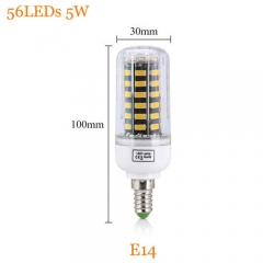RANPO 5W E14 Dimmable Smart IC SMD 5733 Led Lamp 220V Led Light Corn Bulb
