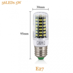 RANPO 5W E27 Dimmable Smart IC SMD 5733 Led Lamp 220V Led Light Corn Bulb