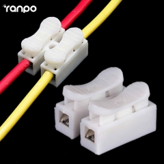RANPO 20x CH-2 Spring Wire Connectors Electrical Cable Clamp Terminal Block Connector