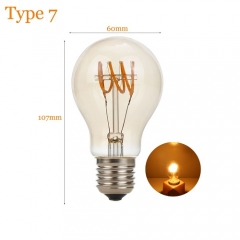 RANPO Type 7 2W Antique Retro Vintage Edison Light Bulbs Lamp E27 Filament Bulbs 220V