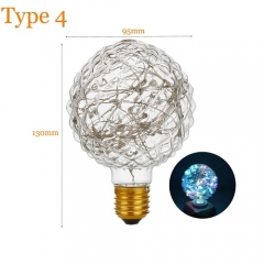RANPO Type 4 2W Antique Retro Vintage Edison Light Bulbs Lamp E27 Filament Bulbs 220V