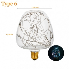 RANPO Type 6 2W Antique Retro Vintage Edison Light Bulbs Lamp E27 Filament Bulbs 220V