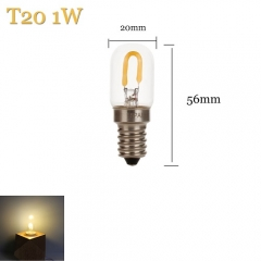 1W E14 Vintage Retro Filament Edison LED Bulb T20 Light Lamp 220V Antique