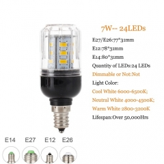 RANPO 7W E14 5730 SMD LED Corn Bulb Light Bright 220V