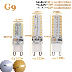 RANPO 10W G9 LED Silicon Corn Bulb 3014 SMD Lamp 110V 220V