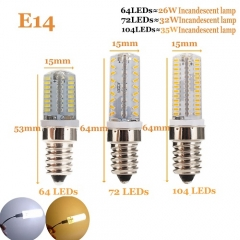 RANPO 7W Dimmable E14 LED Silicon Corn Bulb 3014 SMD Lamp 220V