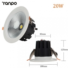 RANPO 20W LED Recessed Ceiling Downlight Bulb Round Lamp AC100-265V
