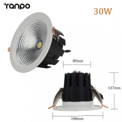 RANPO 30W LED Recessed Ceiling Downlight Bulb Round Lamp AC100-265V