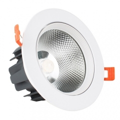 RANPO 12W LED Recessed Ceiling Downlight Bulb COB Spotlight 85-265V Panel Light