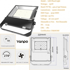 RANPO 150W LED Flood Light IP65 Waterproof 3030 SMD Spotlight Lamp 110V 220V