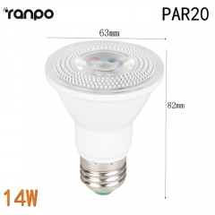 RANPO 14W E27 PAR20 Dimmable LED Spotlight Bulb White Lamp