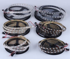 RANPO Waterproof in Silicon Tube 180LEDs/M IC Lamp WS2812B 5V LED Strip Waterproof 5050 RGB Light WS2812
