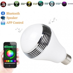 RANPO RGB Wireless Smart Blue tooth Speaker Bulb APP Control Music Playing Light Lamp