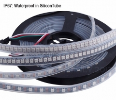 RANPO Waterproof in Silicon Tube 144LEDs/M IC Lamp WS2812B 5V LED Strip Waterproof 5050 RGB Light WS2812