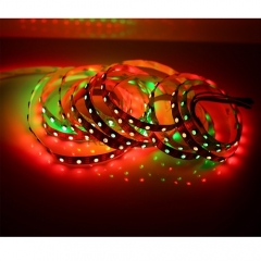 RANPO Waterproof in Silicon Coating Black PCB 120LEDs/M IC Lamp WS2812B 5V LED Strip Waterproof 5050 RGB Light WS2812