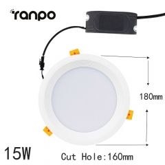 RANPO 15W LED Recessed Ceiling DownLight Fixture 5730 SMD Lamp Bright