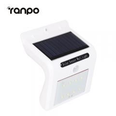 RANPO Waterproof 8 LED Solar Power PIR Motion Sensor Wall Light Outdoor Garden Lamp