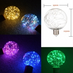 RANPO E27 G95 LED Edison Starry Fairy String Light Bulb Christmas Party Lamp AC 220V