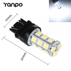 RANPO 10Pcs LED Bulb 3157 18 LEDs 5050 SMD Brake Stop Turn Tail Back Up Light