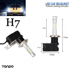 RANPO 2x H7 HB2 30W 4200LM Turbine LED Headlight Kit Bulb Seoul CSP Chip 6K All-in-one