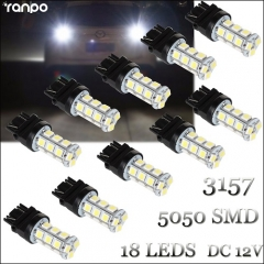 10Pcs LED Bulb 3157 18 LEDs 5050 SMD Brake Stop Turn Tail Back Up Light