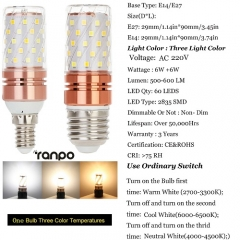 Ranpo E27 12W LED Corn Light Bulb 220V 240V 2835 SMD Cool Neutral Warm White Lamp