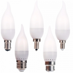 Ranpo 3W LED Bulb Lamp E12 E26 E27 E14 B22 B15 Flame Chandelier Candle Light 2835 SMD AC 220V 110V Led Corn Lights Home Decor