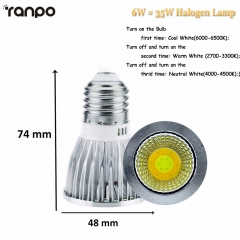 Ranpo Dimmable E27 E14 GU10 LED COB Spotlight 35W Equivalent Lamp Bulb Light 85-265V AC 110V 220V Corn Lighting Spot Lights