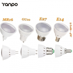 GU10 MR16 E14 E27 9LEDs Spotlight 4W Bulb 7030 SMD Lamp 110V 220V Save Energy LED Corn Bulb Light Lamps 7020 SMD Lighting